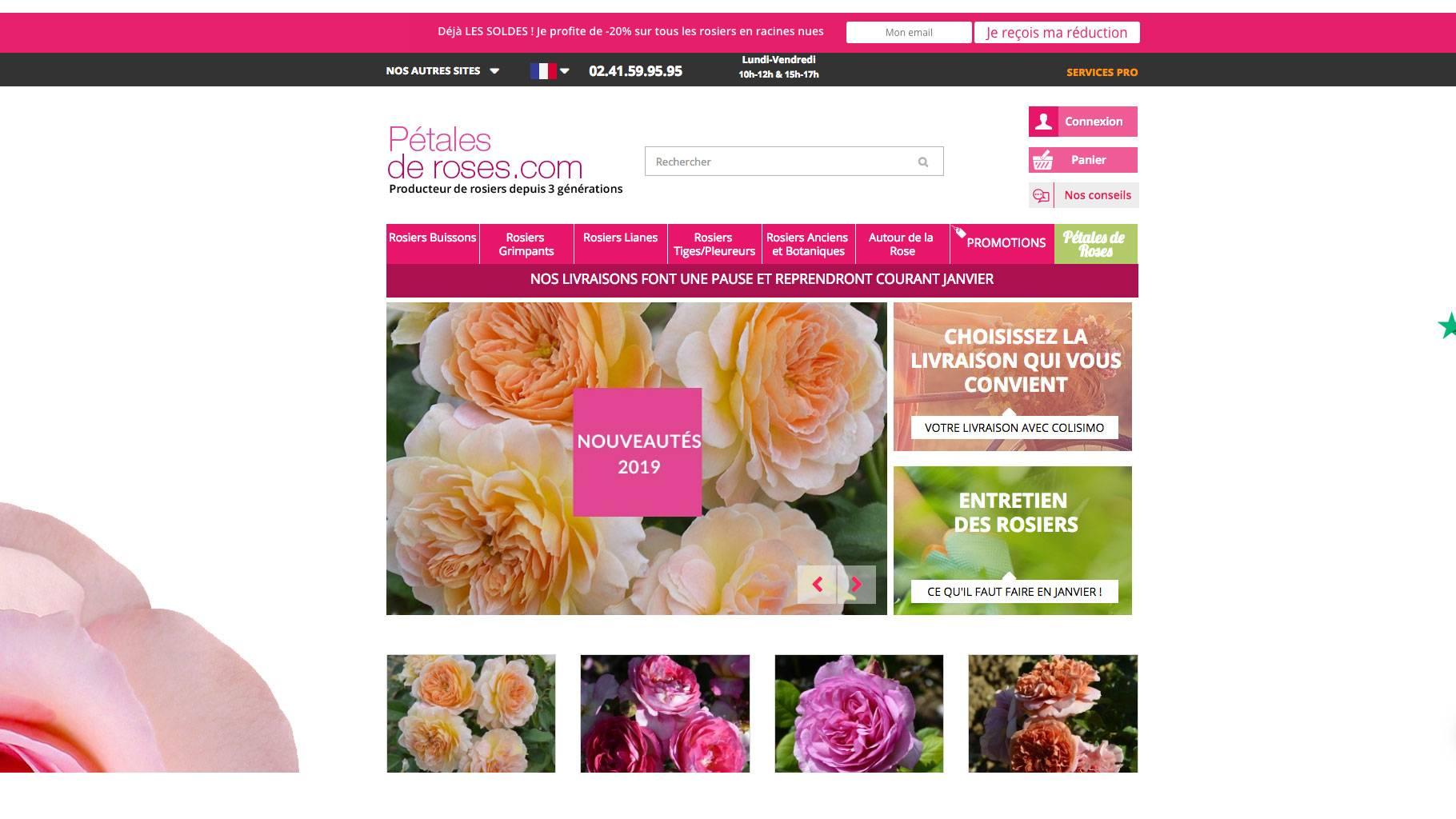 Découvrez notre boutique Pétales de roses
